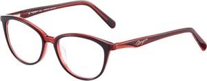Czerwone okulary damskie Morgan