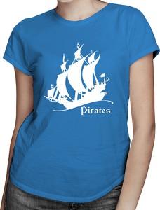 Niebieski t-shirt Koszulkowy z okrągłym dekoltem
