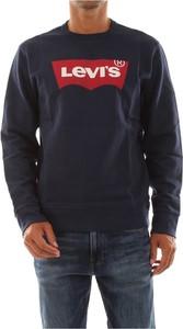Niebieski sweter Levis z okrągłym dekoltem w młodzieżowym stylu
