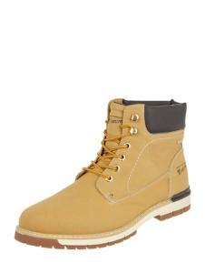 Brązowe buty zimowe Tom Tailor sznurowane