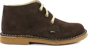 Brązowe buty zimowe OTMĘT z zamszu w stylu casual