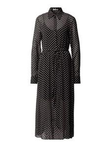 Czarna sukienka Hugo Boss w stylu casual z długim rękawem z kołnierzykiem
