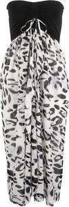 Sukienka bonprix bpc selection w stylu casual maxi bez kołnierzyka