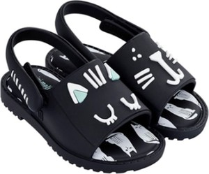 Czarne buty dziecięce letnie Melissa dla dziewczynek
