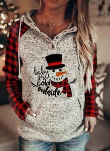 Bluza Sandbella w bożonarodzeniowy wzór z bawełny w młodzieżowym stylu