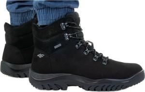 Buty trekkingowe 4F sznurowane ze skóry