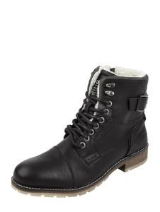 Czarne buty zimowe Tom Tailor w stylu casual