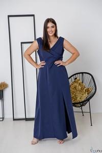 Sukienka tono.sklep.pl bez rękawów z dekoltem w kształcie litery v oversize