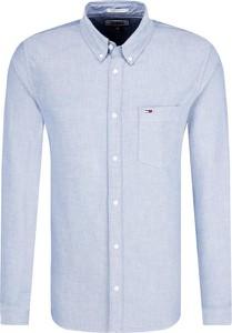 Niebieska koszula Tommy Jeans z bawełny z długim rękawem