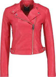 Czerwona kurtka Guess Jeans w stylu casual