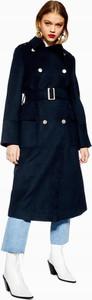 Granatowy płaszcz Topshop