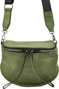 Zielona torebka Lookat matowa w młodzieżowym stylu na ramię