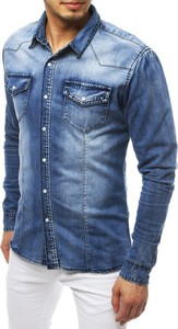 Niebieska koszula Dstreet z jeansu