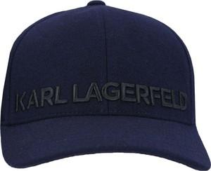 Niebieska czapka Karl Lagerfeld