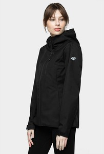 Czarna kurtka 4F krótka w sportowym stylu