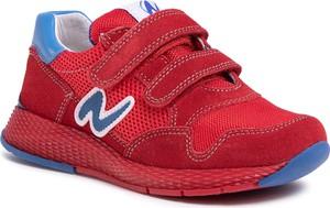 Czerwone buty sportowe dziecięce eobuwie.pl na rzepy