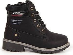 Buty dziecięce zimowe N.E.W.S sznurowane