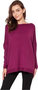 Różowy sweter Lanti z wełny w stylu casual