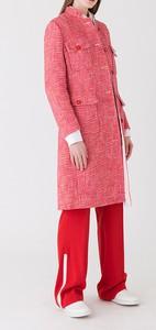 Różowy płaszcz Strenesse z wełny