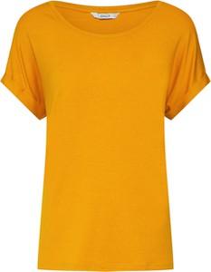 Żółta bluzka Only z krótkim rękawem