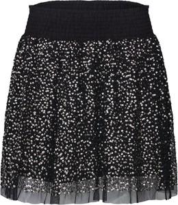 Czarna spódnica Farina Opoku mini z szyfonu