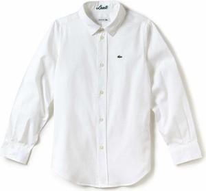 d02da39f1 ... Koszulka bramkarska długi rękaw do piłki nożnej F100 dla dzieci.  Koszula dziecięca Lacoste