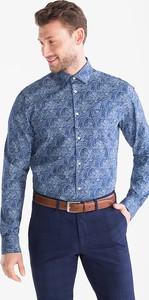 Niebieska koszula Westbury z klasycznym kołnierzykiem