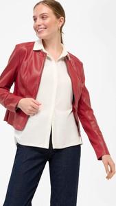 Czerwona kurtka ORSAY ze skóry ekologicznej krótka w stylu casual