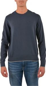Niebieski sweter Emporio Armani w stylu casual z bawełny
