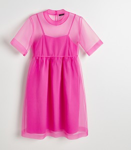 Sukienka Reserved z krótkim rękawem rozkloszowana