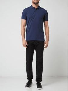 Niebieska koszulka polo Esprit z nadrukiem z krótkim rękawem