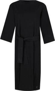 Sukienka Calvin Klein z dżerseju midi z długim rękawem