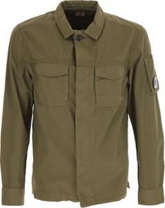 Zielona koszula C. P. Company z bawełny z długim rękawem
