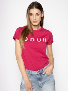 T-shirt Hugo Boss w stylu casual z okrągłym dekoltem z krótkim rękawem