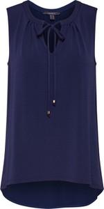 Granatowa bluzka Esprit bez rękawów