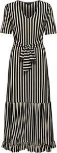 Sukienka Selected Femme midi z dekoltem w kształcie litery v