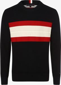 Czarny sweter Tommy Hilfiger z dzianiny
