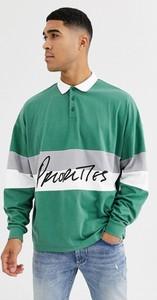Zielona koszulka polo Asos z bawełny