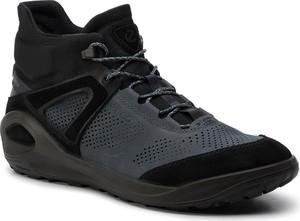 Czarne buty trekkingowe Ecco z goretexu sznurowane