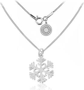 Lian Art Srebrny naszyjnik - Śnieżynka - Płatek Śniegu - rodowana