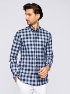Granatowa koszula Trussardi Jeans z długim rękawem