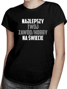 Czarny t-shirt Koszulkowy w młodzieżowym stylu z bawełny