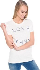 T-shirt Tommy Hilfiger z okrągłym dekoltem w młodzieżowym stylu