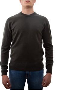 Zielony sweter Woolrich z okrągłym dekoltem w stylu casual
