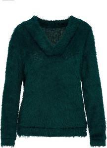 Zielony sweter Lavard z dzianiny