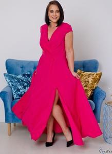 Sukienka tono.sklep.pl maxi z dekoltem w kształcie litery v
