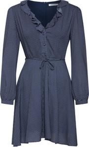 Niebieska sukienka Glamorous z dekoltem w kształcie litery v koszulowa