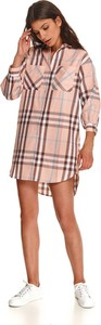 Sukienka Top Secret w stylu casual z kołnierzykiem z długim rękawem