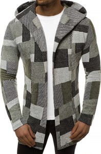 Zielona bluza producent niezdefiniowany w geometryczne wzory w młodzieżowym stylu