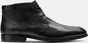 Buty zimowe Kazar sznurowane ze skóry